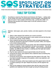 TABLE TOP TEXTING