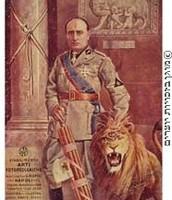 תמונה של מוסליני עם אריה