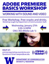 ADOBE PREMIERE BASICS WORKSHOP: WORKING WITH SOUND AND VIDEO