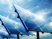 of op grote energiecentrale's speciaal voor zonne-energie.