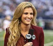 Erin Andrews the first female sportscaster