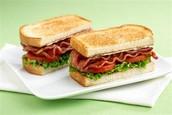 Bacon lettuce tomato sandwich/tocino lechuga y tomate de sándwich