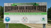 Project sign in front of Edgewood