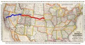 Map of the Transcontinental Rail-Road