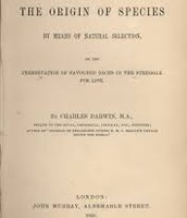 Picture of book jacket from Charles Darwin's published book