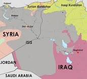 The territory that ISIS claims