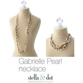 **SOLD** Gabrielle Pearl Necklace