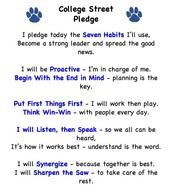 7 Habits Pledge Magnet