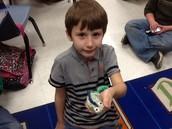 Matthew and his iguana!