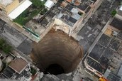 sinkhole that is deeper than 50ft.