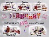 All kits are on sale for the month of February!