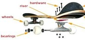 Diagram of a Skateboard