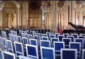 I Spegel Salen i Palácio Foz (Lissabon) före konserten