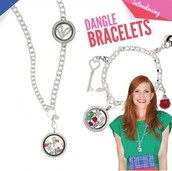 Dangle bracelet and Over the heart necklace