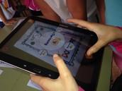 Interactuando con la tablet