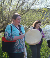 Drumming for the Salmon Release