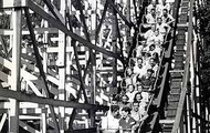 "One of Hershey's many thrill roller caoster rides called the ""Mill Chute""."