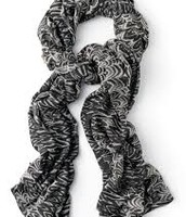 Black and White Zebra Scarf $29