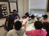 Mr. Hernandez leads small group instruction!