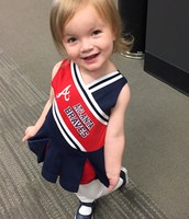 Millie in her Braves Opening Day outfit.