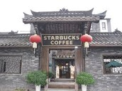 The  Starbucks in china