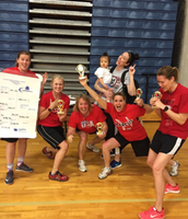 Coaches bring home the FCA Dodgeball Trophy