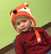 Copeland in his fox hat.