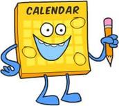October 2015 Dates