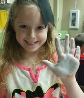 Dr. Seuss Week activity with paint at CES