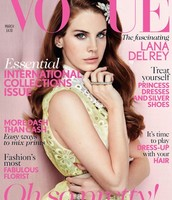 Lana on the cover of Vogue Magazine