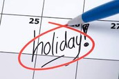 School Holidays for Students