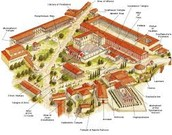 This picture is a layout of a Athenian agora.