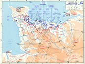 Invasion of Normandy Map