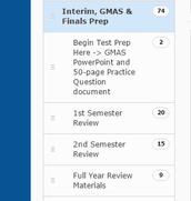Interim, GMAS & Finals Prep Folder on eClass