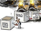 Isis political cartoon