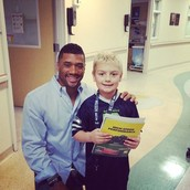 Russell Wilson visiting the seattle hospital