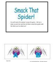 Smack that Spider Alphabet game