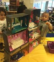 Constructing our Dioramas!