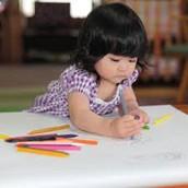 Baby scribbling