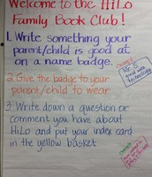 Family Book Club opening directions