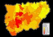 Mapa densidad de Andorra