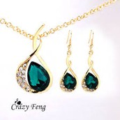 Jewelry Sets Chain Necklace+Earrings