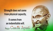 a quote by Gandhi to inspire his followers.