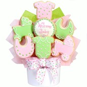 Welcome Baby Cookie Bouquet