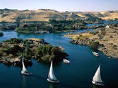 Boats on the Nile River