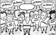 cartoon of a petition
