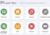 Choose from images, video, audio, links, buttons and more!