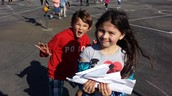 Schoolwide Friday Fun paper airplanes