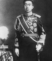 Hirohito in Uniform for WWII