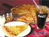 La pizza con queso (cineto cincuenta y cinco pesos y veintitres centavos 155.23)